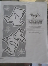 USE AND CARE GUIDE WHIRLPOOL 240-VOLT ELECTRIC COMPACT DRYER 8562114
