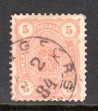 Finland - 1875 Def. Coat of Arms Mi. 13Byb FU (Perf. 12,5)  d