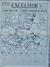 EXCELSIOR (30 mars 1919) Villain acquitté - Nouvelle orientation hostilités