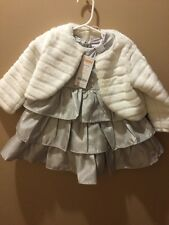 Gymboree Girls Holiday Silver Dress & Shrug 12-18 months NWT