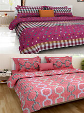Homefab India Combo of 2 Cotton Double Bed Sheet (Combo804)