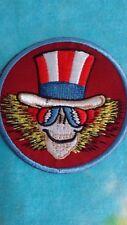 Grateful Dead Psycle Sam Uncle Sam Lightning Bolt Glasses 3 Inch Iron On Patch