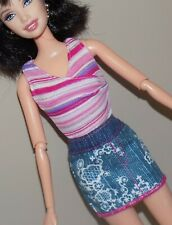 Barbie Outfit Top Dreamhouse Jean Skirt Fits Fashionista Model My Scene Liv Doll