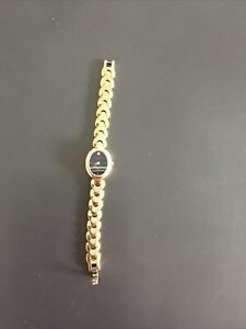 Vintage WITTNAUER Black Dial Diamond Accent Ladies Quartz Watch ~ Fresh Battery!
