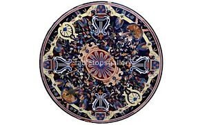 """42"""" Marble Top Dining Table Pietra Dura Inlay Parrot Art Occasional Decor B567A"""