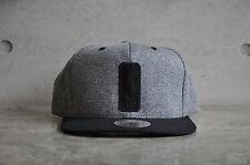 Mitchell & Ness NBA Logoman Sidewalk Charcoal/Black Snapback Cap