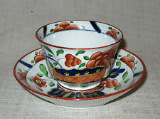 Early 19th Century Gaudy Dutch War Bonnet Handless Cup and Saucer