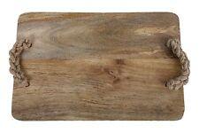 GRANDE tagliere in legno con manico intrecciate serving platter