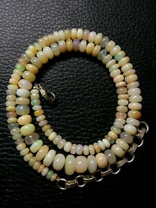 Natural Ethiopian Welo Opal Genuine Beads Necklace 90.60Ct Size 4.5 To 9.5mm S41