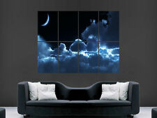 SKY MOON CLOUDS  ART WALL LARGE IMAGE GIANT POSTER !!!