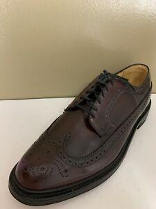 Hanover LB Sheppard Signature Burgundy Brown Wingtip Brogue Dress Shoes 10.5 EE