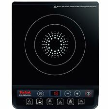 Tefal IH201840 Black Portable Electric Single Induction Cooking Hob New