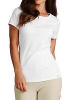 EX M&S Autograph Luxurious White Short Sleeve Vest Top With Modal