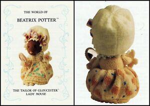 BEATRIX POTTER  TAILOR OF GLOUCESTER LADY MOUSE TOY/DOLL TDB  KNITTING PATTERN