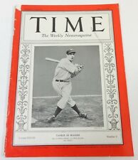TIME Magazine July 13, 1936 Joe Di Maggio (Volume XXVIII, 2) Yankee BASEBALL