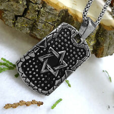 Star of David Pendant Stainless Steel Men's Necklace