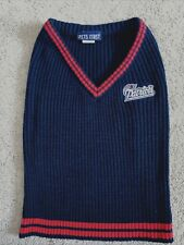New listing Dog Sweater Pets First New England Patriots Navy Large V-Neck Euc