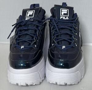 FILA DISRUPTOR 2 Galactic Gaze Women's Blue Synthetic Platform Sneakers UK7 EU41