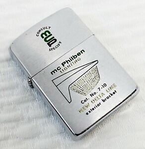 1962 McPHILBEN DELTA LINE LIGHTING MCP 2517191 Advertising Zippo Lighter NICE