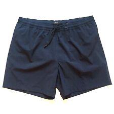 THEORY Mens Elastic Waist Drawstring Swim Trunks Short Navy Blue 2XL (MSRP $155)