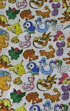 Pikachu Pokemon mixed print polycotton fabric fat quarter