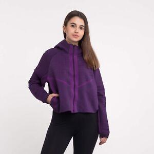Women's Nike Sportswear City Ready Tech Fleece Full-Zip Jacket CI9432-525 Purple