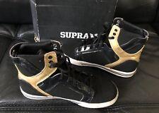 Supra Kids Skyrop Black/Gold-white Shoes Sz 2