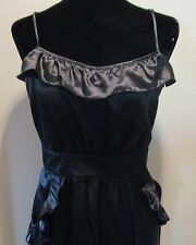 Marc by Marc Jacobs Black Cotton and Silk Cocktail Dress Size 12
