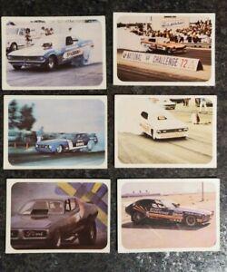 1972 fleer AHRA Drag Nationals Cards Lot of 6