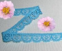 """Turquoise Lace Trim 14 - 60 Yd x 1/2"""" Scalloped N40OV Buy any 3 Trims Get 1 Free"""