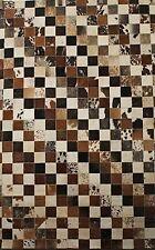 Kuhfell teppich Patchwork aus buntem Kuhfell Ca.120 cm x 180 cm