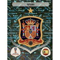 Panini WM 2018 132 Spanien Spain World Cup WC 18Wappen Logo Glitzer