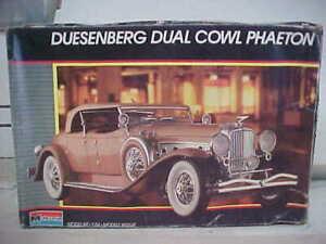 Monogram Duesenberg Dual Cowl Phaeton 1/24 Scale Model Kit
