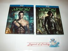 * New Sealed *  Arrow: The Complete 1 First and 2 Second Season  Blu Ray Set USA