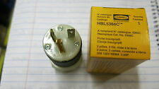 Hubbell 5366C, 5-20P 20 Amp 125 Volt 3 Wire Straight Blade Plug NEW, LOT OF 2