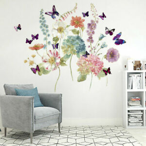 Removable Butterfly Transfers Floral Wall Art Decal Sticker Mural Home Decors UK