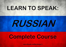 LEARN TO SPEAK RUSSIAN - LANGUAGE COURSE- 4 BOOKS & 4.5 HRS AUDIO MP3 ALL ON DVD