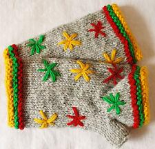 New Bares Fleece Lined Wool Wrist Warmer - Hippy Ethnic Boho Winter Festival