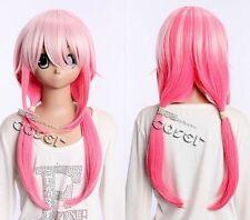 W-405 Guilty Crown Inori Yuzuriha rosa rosa 60cm cosplay peluca Wig perruque