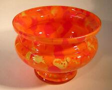 Art Deco,Glas,Vase,Überfangglas,orange,um 1930, Böhmen, Loetz