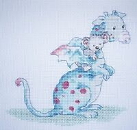 KL66 Dillon & Ko! Dragon Counted Cross Stitch Kit by Genny Haines