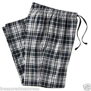 Croft & Barrow Pajama Bottoms Lounge Pants Sleepwear ~ Black, Grey & White Plaid
