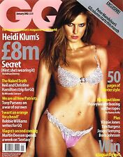 GQ UK January 2002 HEIDI KLUM Robbie Williams ROBERT SHAW Vinnie Jones @EXCLT@