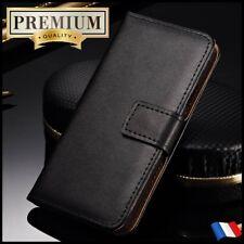 Etui Cuir housse coque Genuine Split Leather Wallet case HUAWEI Honor 6x,Y6 2018
