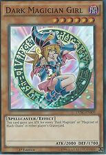 * DAMAGED * YU-GI-OH: DARK MAGICIAN GIRL - SUPER RARE - DPBC-EN009 1ST ED