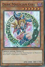 * DAMAGED * YU-GI-OH: DARK MAGICIAN GIRL - SUPER RARE - DPBC-EN009 1ST ED