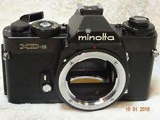 [TOP Mint] Minolta XD-s Schwarz Chrom 35mm SLR Drehen auf der Rückseite super selten