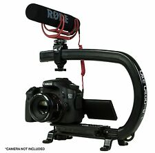 Stabilizing Camera Grip + RODE VideoMic GO Microphone for Sony Cannon GoPro DSLR