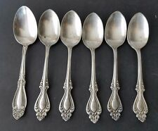 Vtg Rogers A1 R Demitasse Coffee Spoons lot of 6 Silverplate Scroll Monograme S