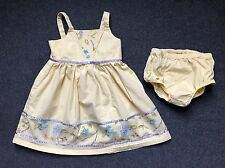 Gymboree Bonjour Provence Yellow Dress Bloomers 2 pc Set 3T Spring Easter